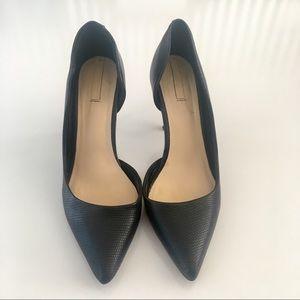 Aldo genuine leather d'Orsay black heels